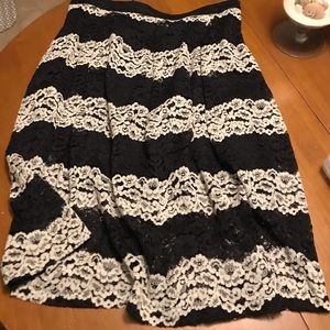 Who What Wear Lace Skirt